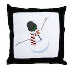 Bliz the Snowman Throw Pillow