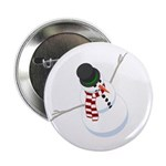 "Bliz the Snowman Dotted 2.25"" Button (10 pack"