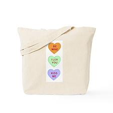 Conversation Hearts Tote Bag