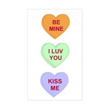 Conversation Hearts Rectangle Decal