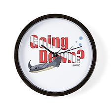 Going Down Stingray Scuba Diving Wall Clock