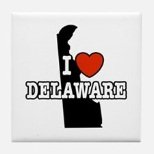 I Love Delaware Tile Coaster
