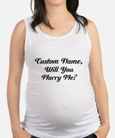 Marry Me Personalized Maternity Tank Top