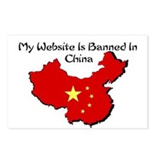 My Website is Banned in China Postcards (Package o