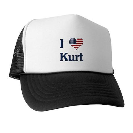 I Love Kurt Trucker Hat