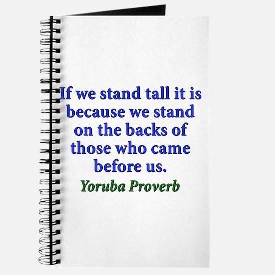 If We Stand Tall - Yoruba Journal