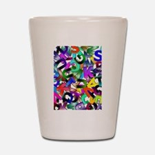 Colorful Alphabet Shot Glass