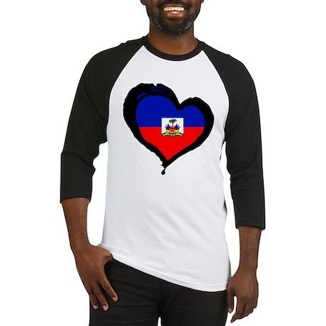 Haiti Love Heart Baseball Jersey