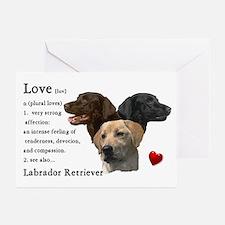 Labrador Retriever Love Greeting Cards (Pk of 10)