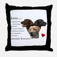 Labrador Retriever Love Throw Pillow