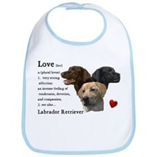 Labrador Retriever Love Bib