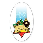 Zion Lion Oval Sticker