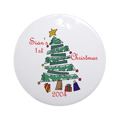 Sian's 1st Christmas 2004 Ornament (Round)