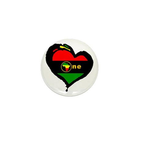 Afro Rasta Mini Button (100 pack)