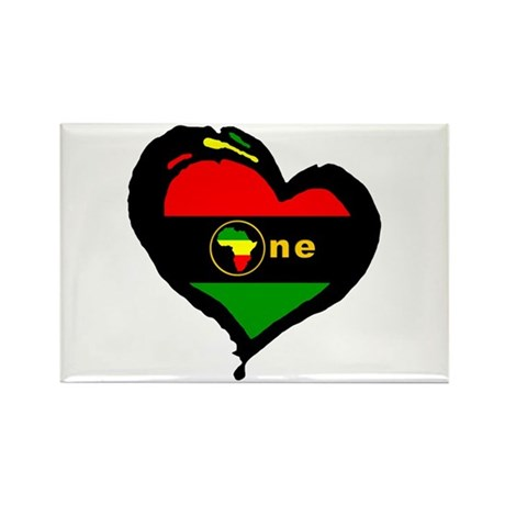 Afro Rasta Rectangle Magnet (10 pack)