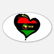 Afro Rasta Oval Decal