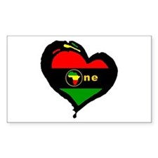 Afro Rasta Rectangle Decal