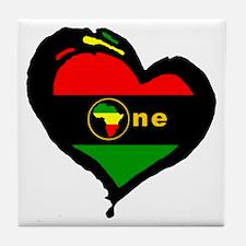 Afro Rasta Tile Coaster