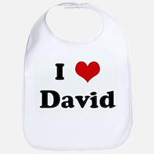 I Love David Bib