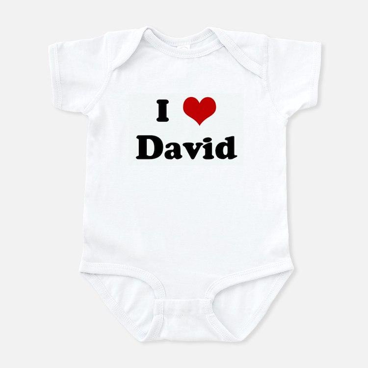 I Love David Infant Bodysuit