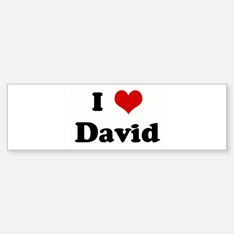 I Love David Bumper Car Car Sticker
