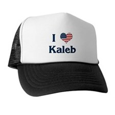 I Love Kaleb Trucker Hat