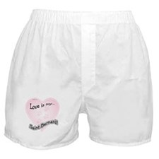 Love is my Saint Bernard Boxer Shorts