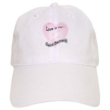 Love is my Saint Bernard Baseball Cap