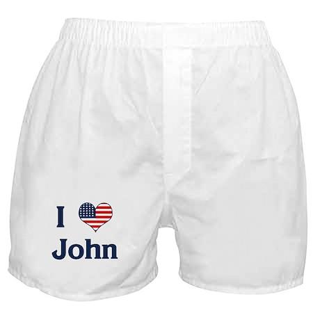 I Love John Boxer Shorts