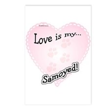 Love is my Samoyed Postcards (Package of 8)