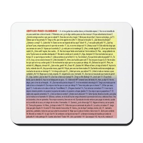102 dichos colombianos Mousepad