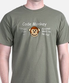 Code Monkey Green T-Shirt