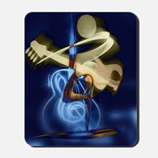 The Guitar Player, Abstract Design Mousepad
