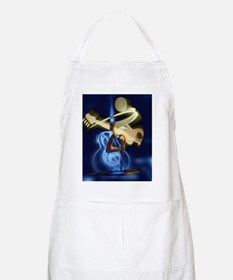 The Guitar Player, Abstract Design Apron
