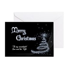 Christmas card for son and wife Greeting Cards