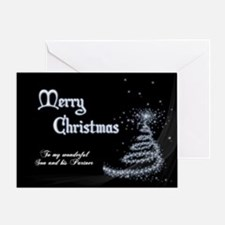 Christmas card for son and partner Greeting Cards