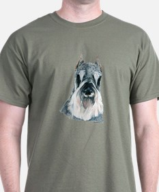 Miniature Schnauzer Dark Colored T-Shirt