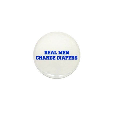 real-men-diapers-FRESH-BLUE Mini Button (10 pack)