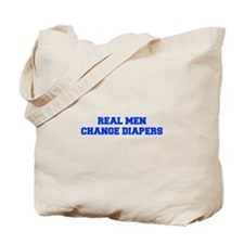real-men-diapers-FRESH-BLUE Tote Bag