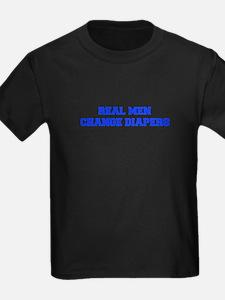 real-men-diapers-FRESH-BLUE T-Shirt