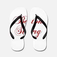 boston-strong-cho-red Flip Flops