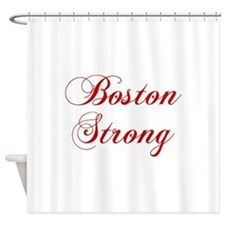 boston-strong-cho-red Shower Curtain