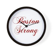 boston-strong-cho-red Wall Clock