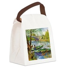 Van Gogh: Fishing in the Spring Canvas Lunch Bag