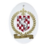 GARNEAU Family Crest Oval Ornament