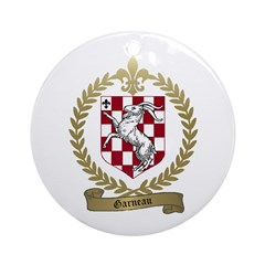 GARNEAU Family Crest Ornament (Round)