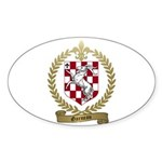 GARNEAU Family Crest Oval Sticker