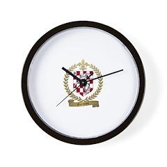 GARNEAU Family Crest Wall Clock