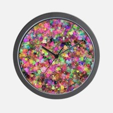 Patches of Paint Wall Clock