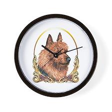Australian Terrier Christmas/Holiday Wall Clock